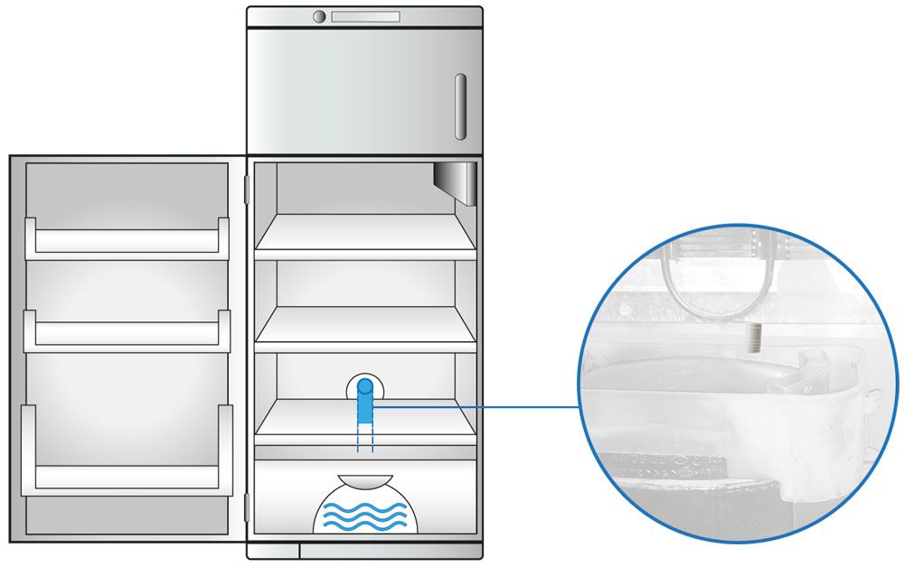 Nel tuo frigorifero trovi dell 39 acqua nei cassetti della for Isolamento del tubo di rame dell acqua calda