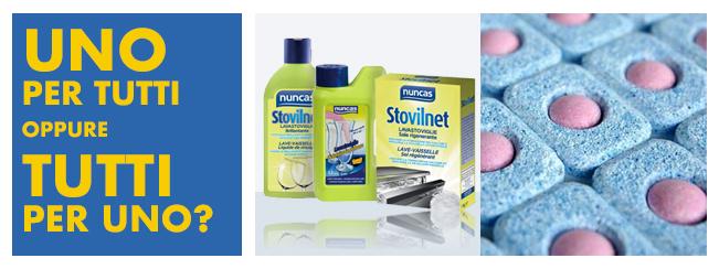 prodotti per lavastoviglie - singoli o multifunzione